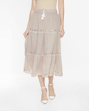 Váy Bút Chì Nữ Eyelet